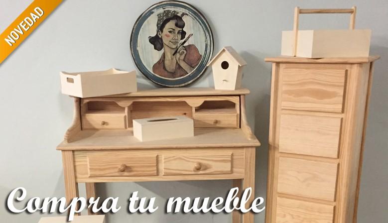 Compra tu mueble en madera de pino